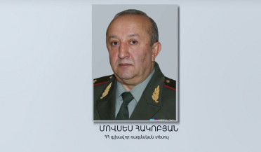 Movses Hakobyan appointed Chief Military Inspector