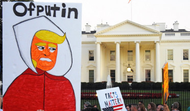 Anti-Russian protests in front of White House