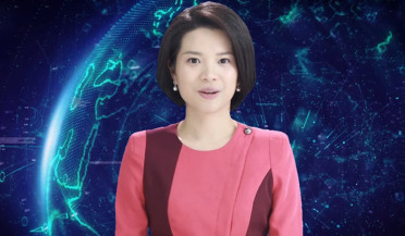 International news: First virtual female anchor
