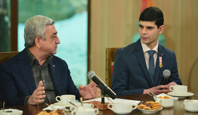 RA President Serzh Sargsyan's Meeting with Demobilized Soldiers